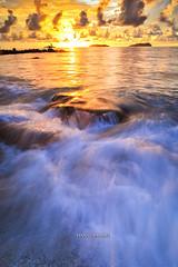 The Rising (hans_cryptonian) Tags: longexposure sunset seascape beach exposure waves kotakinabalu suteraharbour