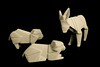 Porcelain Origami: Donkey & Sheep