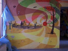 Frauenbergschule Nordhausen: Wandmalerei / Mural art II (n0core) Tags: lostplaces ruine nordhausen frauenberg schule ddr platte plattenbau abandoned нордхаузен thuringia thüringen
