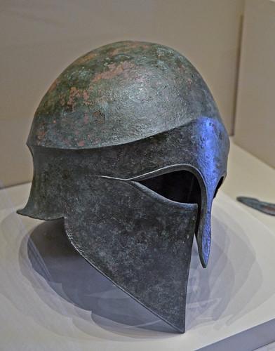 Bronze Corinthian-type helmet from Aiani, loc. Leivadia