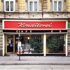 Always great coming to #Vienna. It's like a trip to a less bombed-out version of late 1950s Germany. #Wien #Vienna #architecture #shop #storefront #vintage (janniswerner) Tags: vienna wien city urban detail shop architecture vintage square cityscape lofi bakery squareformat storefront shopfront oldfashioned konditorei iphoneography instagram instagramapp uploaded:by=instagram foursquare:venue=4bfa9a24bc86952141f17a6b