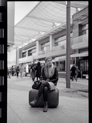 Amo :) (Valerio Loi) Tags: street white black cute london love film girl beautiful 35mm lomo nikon couple fuji scanner amore iphone