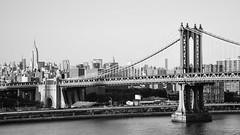 Midtown Manhattan and the Manhattan Bridge from Brooklyn (rjdibella) Tags: nyc newyorkcity blackandwhite bw usa newyork fall weather brooklyn blackwhite bridges 123 manhattanbridge empirestatebuilding 2010