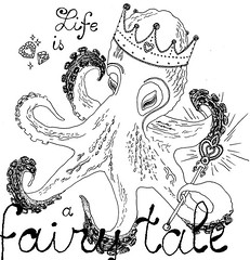 Fairy Tale (Marazyuk Polina) Tags: life diamonds is heart princess shaped drawing details fairy octopus crown tale