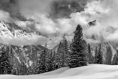 Merry christmas! Happy holidays! (gregor H [PRO EX]) Tags: christmas winter mountain snow alps austria wishes merry brand snowclouds vorarlberg