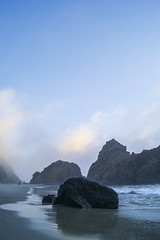 Big Sur, CA (Alesha A.B.) Tags: ocean california sunset seascape beach nature fog clouds landscape keyholerock