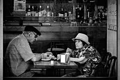 Street shot (I) (A.González) Tags: madrid street old people blackandwhite españa white black blancoynegro blanco look bar calle spain nikon sad gente negro streetphotography triste age pasear streetphoto oldpeople mirada oldage edad viejos vejez callejera fotocallejera callejear fotografíacallejera