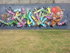 Fans... (colourourcity) Tags: streetart graffiti freestyle awesome letters melbourne fans burner burners afp elmerfudd wildstyle l