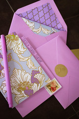 post-holiday thank you notes (jojoannabanana) Tags: pink color floral pen handwriting cards gold pattern purple stamp envelope notecards 3652014