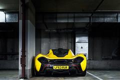 P1. (Alex Penfold) Tags: park london cars alex car yellow shot rear super mclaren autos carpark supercar p1 supercars penfold alexpenfold