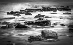 Rocks (Alexandros Constantinides) Tags: sea white black rocks waves cyprus foam limassol