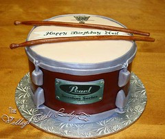PearlDrum22 (Village Cake Lady) Tags: birthday red cake lady 3d sticks village drum ottawa sugar kingston musical instrument pearl kemptville sculpted fondant