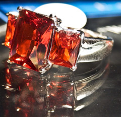 Valentine's RED (V and the Bats) Tags: red colors silver handmade jewelry ring gem jewel gemstone silverring spinel 925sterlingsilver redspinel valentinesred labcreatedstone