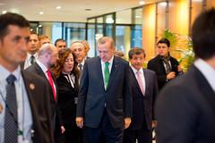 Turkey's Prime Minister Erdoğan today at the EP (European Parliament) Tags: turkey prime martin tie necktie minister schulz cravat recep tayyip erdoğan