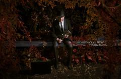 La nuit dernière, j'ai rêvé que tu étais un meurtrier fou // Last night I dreamt you were an axe murderer (Alexander JE Bradley) Tags: flowers portrait people man art fairytale night photography scary blood nikon kill dream environmental australia oldman victoria suit axe nightmare conceptual suitcase dripping highart murderer frightening photographe 2470mmf28 d7000 alexanderbradley alexanderjebradley
