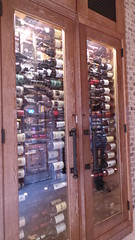 Wine racks at Tyler's Lounge