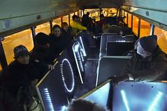 Ready to Ride and Sing (Light Brigading) Tags: iris light bus wisconsin hall singing song lisa joe capitol madison lane revolution brigade ssa moline dusan brusky olb harminc solidaritysingalong occupyriverwest overpasslightbrigade
