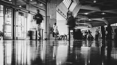 Waiting (Tyler.Coverdale) Tags: people white black 35mm airport waiting streetphotography groundlevel 169