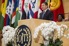 Visit by H.E. Mr Noroviin Altankhuyag, Prime Minister of Mongolia (ILO PHOTOS NEWS) Tags: geneva des palais nations ilo oit internationallabourorganisation worldofworksummit ilc2014