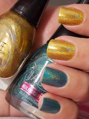 Energy e Mystic Gold - Jade (Natalia Breda) Tags: verde dourado jade holográfico esmaltenacional homamanicure