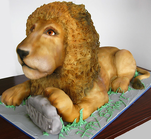 Lion Sculpted Cake