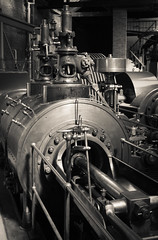power hall mill engine 05 jun 14 (Shaun the grime lover) Tags: industry monochrome museum manchester hall power engine science steam machinery engines cylinder mosi
