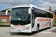 Fourway Leeds YY14AFA. (EYBusman) Tags: road park new west bus way four volvo coach yorkshire leeds east leopard independent brand coaches bridlington plaxton b9r hilderthorpe eybusman yy14afa