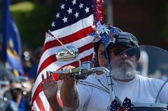 La Verne's 2014 4th of July Parade (linda m bell) Tags: california americanflag flags parade socal motorcycle 4thofjuly 2014 laverne