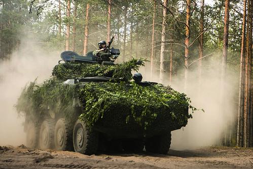 Latvian military spending.