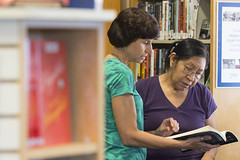 160909_Karen Burgan and student_001 (Pima County Public Library) Tags: elriolibrary pimacountylibrary instruction adulteducation ged continuingeducation adulttraining jobtraining library d5