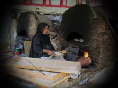 Traditional Bread Baker, Egypt (Mohamad Khedr) Tags: baker bakery people worker black egipt egyiptom egypten egipto egypti egito egiptus egypte egipte egypt egitto oven bread hijab