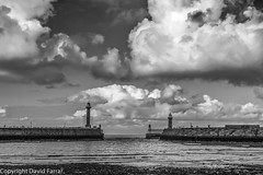 Whitby Breakwater, Yorkshire (golferdave2010) Tags: 2016 7d breakwater canon clouds harbour landscape lighthouse monochrome sea seascape whitby yorkshire