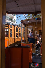 Soller Tramway (pstani) Tags: balearics europe mallorca portdesoller soller sollertramway spain roadvehicle tram