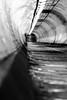 Woolwich foot tunnel B/W