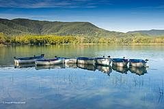 Les barques - The boats (McGuiver) Tags: olympus epl5 banyoles barques barcas boats llac lake lago catalunya landscape