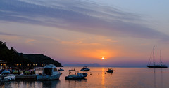 Fading - Hazy Sunset - Sivota Harbour - Greece  (Canon EOS 7D & EF-S 17-55mm f2.8 Zoom) (1 of 1) (markdbaynham) Tags: sivota harbour greece grecia greka hellas hellenic sunset colour sky sea clouds gr canon canonite canonites eos 7d apsc dslr efs 1755mm f28 zoom