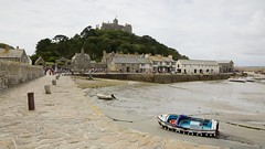 St. Michael's Mount (Future-Echoes) Tags: 2015 boat cornwall harbour marazion posts stmichaelsmount