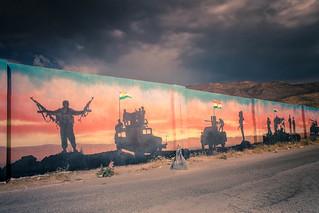 Peshmerga mural