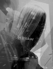 122 (eirelgeuse) Tags: bw blackandwhite mannequins identity overlay abstract glitch