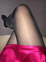 Saturday morning (TVNicola & Mistress) Tags: sissy slip knickers satin tights black