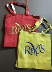The glorious Revels bags are in the house! (Cahoots Design) Tags: revels christmas christmasrevels tote bag apparel tshirt silkscreen theater theatre boston cambridge harvard sanders apparelgraphics embroidery logo logotype brand branddesign cahoots cahootsdesign fashion music folk gift branded