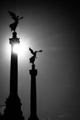 two angels b&w (matwolf) Tags: angel angels bw blackandwhite black blackwhite blanc noiretblanc ngc noir noirblanc sun schwarz schwarzweis street engel sonne gegenlicht