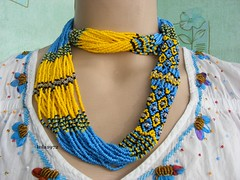 Epic Multistrand Necklace - UKRAINE (Seed Bead Necklace) Tags: yellowblue etsyshop handcrafted jewelry handmadejewelry holidaygift handmadegifts handmade necklace jewelryonetsy etsymntt etsy ukrainiannecklace ukrainianjewelry ukrainian beadednecklace gifts