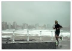transparencias (3) (Ramn Medina) Tags: gijn sea seascape asturias mar marina alotrolado traselcristal blur beach playa paseomartimo promenade desenfocado parabrisas windscreen windshield painterly skyline