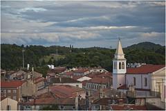 0261-POREC DESDE EL CAMPANARIO  (Croacia) (-MARCO POLO--) Tags: ciudades atardeceres ocasos nubes arcos arquitectura edificios