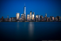 Blue Hour in New York (mhoffman1) Tags: oony2016 financialdistrict freedomtower hudsonriver manhattan nyc newyork oneworldtradecenter sonyalpha a7r blue bluehour evening longexposure night skyline skyscrapers cityscape