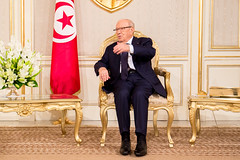 Official visit at the Presidential Palace. (ITU Pictures) Tags: محمد الباجي قائد السبسي itu carthage uit wtsa16