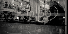 """Day 29/365_Le Penseur III (Frdric Cottens - Photographie """"brute"""") Tags: day29 365 basel switzerland coffee caf bw penf window man reading thought lepenseur"""