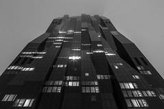 DC Tower (davidcl0nel) Tags: 2016 canon canon5dmarkiii wien austria sterreich dctower donaucity donau night bw architecture skyscraper silhouette windows