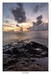 Pointes des Roches (Laurent Asselin) Tags: pointe roches rochers paysage aube sunrise soleil lumire couleurs nuages ciel mer eau ocan rivage cte guyane kourou